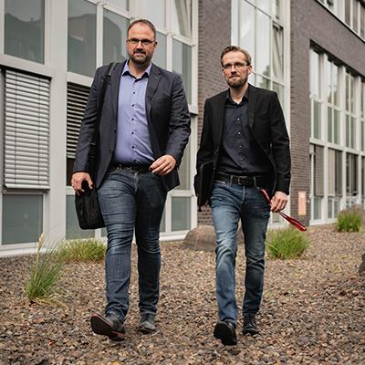 Marc Riegel, Geschäftsführer, und Jan Peukmann, Prokurist, der SAFETEE GmbH