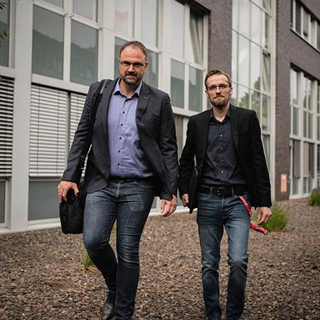 Marc Riegel, Geschäftsführer und Jan Peukmann, Prokurist, der SAFETEE GmbH